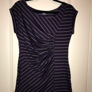 A.N.A Deep Purple Strip Top